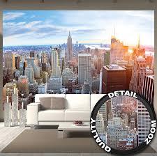 100 Penthouses In Manhattan New York GREAT ART Wallpaper Skyline Wall Decoration Sunset