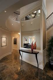 Contemporary Foyer Entry With Ceiling Lighting White Wood