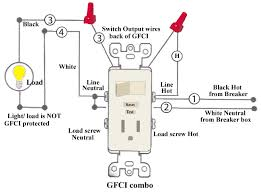 gfci receptacle with a light fixture an onoff switch in for wiring