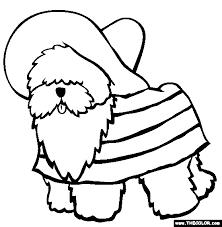 Old English Sheepdog Coloring Page