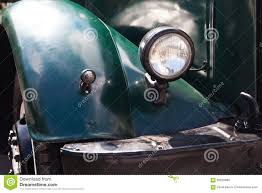 Dark Green Vintage Design Headlight. Stock Image - Image Of Classic ...