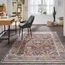 fayans vintage teppich kibek in blau 120 x 180 cm aus