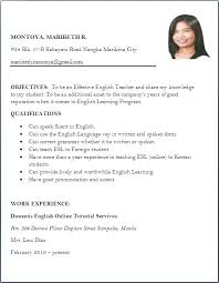 Resume Job Title Examples Example Of For A Applying Sample Teaching Best Collection