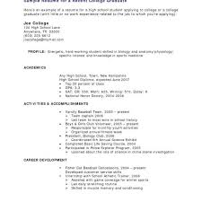 Sample Resume For Recent College Graduate Elegant No Work Experience Imposing Examples Resumes With
