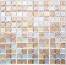 yoillione fliesenaufkleber badezimmer fliesenfolie mosaik fliesensticker bad fliesen selbstklebend fliesendekor braun 3d fliesenaufkleber kküche