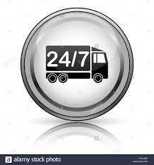 24 7 Delivery Truck Icon. Internet Button On White Background Stock ... Fast Shipping Delivery Truck Icon Vector Symbol In Flat Style Truck Noto Emoji Travel Places Iconset Google Lorry Icons Image Artwork Of Free 316947 Download Icon Stock Quka 145247075 Awesome Speedy Photos Clip Art Designs Shipping Delivery Simbol Flat Man With Hand Getty Images Psd Glassy Green Round Button Cargo In Style On A Yellow Background Container White Background Generic