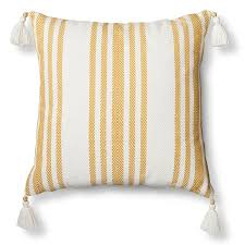 Decorative Lumbar Pillow Target by Woven Stripe Throw Pillow Yellow U2013 Threshold Target Couch