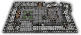 kickstarter red dragon gaming castle and dungeon map tile set