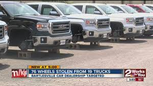 Bartleville Dealership Targeted - Wheels Stolen - YouTube Interco Tire About Our Truck Tyre Dealership In Warrnambool Dutrax Performance Tires Finder Ok Ajax Commercial Shop And Repair Old Trucks More Bucks David39s Caters To Used Chevy K10 Truck Restoration Phase 5 Suspension Wheels Dannix For Cars Trucks And Suvs Falken Men Automobile Tire Repair Gathered Outside The H Bender United Ford Secaucus Nj New Chevrolet Used Car Dealer Folsom Ca Near Sacramento Gladiator Off Road Trailer Light Blacks Auto Service Located North South Carolina