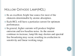 Hollow Cathode Lamp In Aas by Atomic Absorption Spectrophotometer