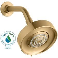 Kohler Purist Faucet Gold by Kohler Purist Multifunction 3 Spray 5 5 In Raincan Showerhead In