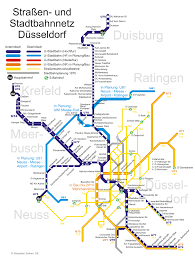 Stadtbahn Duisburgo metro map Germany The Duisburg Stadtbahn is