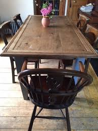 Antique Reclaimed Elm Church Entrance Door Large Dining Table