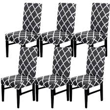 6Pcs Black Stretch Dining Chair Cover Black Rhombic Chair Cover Decorative  Chair Cover Decorative Chair Coversbuy 6 Free Shipping Alltimegood Ding Room Covers Short Super Fit Stretch Removable Washable Cover Protector Print Office Cube Decor Zone Desk Southwest Wedding Stylists And Faux Linen Sand Summer Promoondecorative 60 Off Today Coversbuy Free Shipping 49 Patio Amazoncom Duck