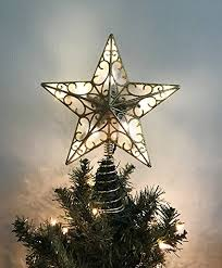 Christmas Tree Lighted Star Topper 11 Inch With Plug In Chord 5 Feet Cord