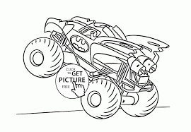 100 Monster Truck Batman Inspiring Design Ideas Coloring Pages Printable