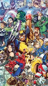 Marvel Heroes iPhone 5 SE Wallpaper