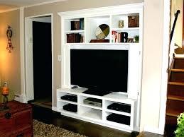 hidden tv furniture living room stand custom woodwork king corner build choosing best building the made