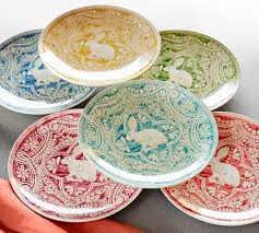 Graphic Bunny Plate Set of 4