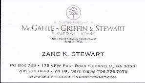 McGahee Griffin & Stewart Funeral Home