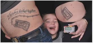 3 Mum And Dad Has Their Diabetic Sons Insulin Pump Tattooed On Themselves With The Words Forever Linked