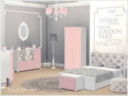 A Set Of Furniture Decor And Construction Objects For The Bedroom Young Girl