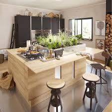 cuisine decor meuble de cuisine décor chêne blanchi delinia graphic leroy merlin