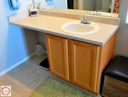 Master Bathroom Vanity With Makeup Area by A Glimpse Inside Master Bathroom Makeover Reveal
