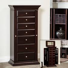 Belham Living Seville Antique Walnut Locking Jewelry Armoire ... Fniture Mesmerizing White Jewelry Armoire With Elegant Shaped Black Box Standing Tips Interesting Walmart Design Ideas Armoire Jewelry Abolishrmcom Wall Mirrors Mounted Mirrored Jewellery Large Inspiring Stylish Storage Big Lots Luxury Chest Under 100 Armoires Bedroom The Home Depot Target Mount Boxes