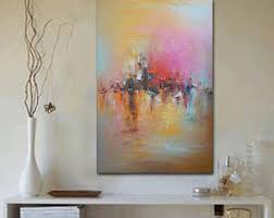 Large Abstract Oil Painting Original Art Canvas Bedroom Decor Wall