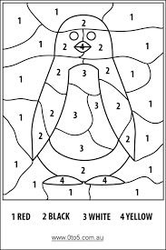 Number Coloring Pages For Preschoolers Appytrucksandskulls Color By Numberspenguineasy Office Pinterest Penguins Easy