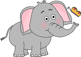Elephant and Butterfly Clip Art Elephant and Butterfly Image