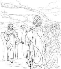 Click To See Printable Version Of Jesus Raises Lazarus From The Dead Coloring Page