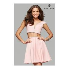 two piece prom dresses faviana