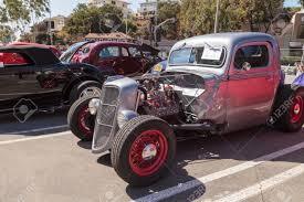 100 1938 Ford Truck Laguna Beach CA USA October 2 2016 Silver