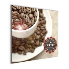 glasbild 20x20cm küche küchenbild kaffee neu