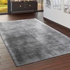 teppich handgefertigt hochwertig 100 viskose vintage optisch meliert in grau grösse 200x300 cm
