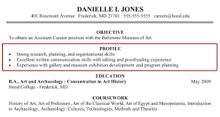 Profile Examples For Resumes Personal Resume Samples