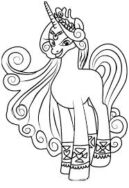 My Little Pony Coloring Princess Celestia Pages Free Printable Rarity Cade