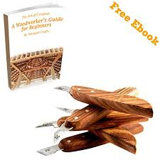 5 knife wood chip carving set with ergonomic handle razor sharp
