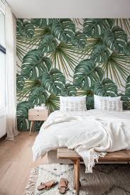 monstera blatt wallpaper abnehmbare tapete temporäre etsy