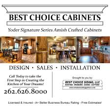 Amish Cabinet Makers Wisconsin by Best Choice Cabinets Interior Design 1206 Fond Du Lac Ave