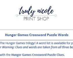 crossword puzzles etsy