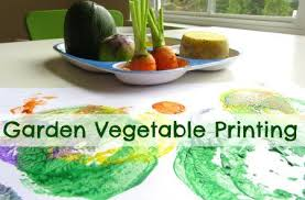 Garden Vegetable Printing From No Time For Flashcards