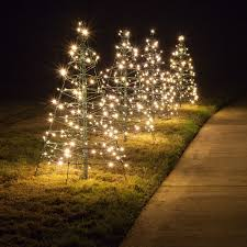 Outdoor Holiday Lighted Stick Trees