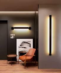 schwarz 60cm warmweiß pinchu led wandleuchte innen modern
