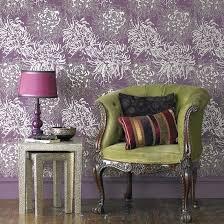 aubergine schlafzimmer tapeten ideen lila wohnzimmer