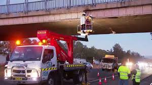 100 Truck Hits Overpass M4 Crash Hits Overpass Closing Two Lanes