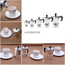 Aluminum 9 Cup Latte Mocha Coffee Pot Stove Top Espresso Maker Parts Tool Y05
