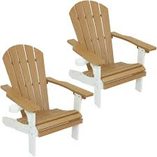 Sunnydaze Decor All-Weather Polyethylene Adirondack Patio Chair With 2-Tone  Faux Wood Design, Set Of 2 In Brown/White Brown Plastic Patio Chairs Cool Round Wood Outdoor Ding Set Table Acacia Fniture Easy Jordan Us Leisure Resin Adirondack Chair In Modish Boardwalk 81 Luxurious Gallery For Stackable Pair Of Sculptural Alinum After Walter Lamb 38 Dark Wicker Of 4 Espresso Beautiful 1103design Ideas Pacific Whiskey Allweather Adjustable Chaise Lounger With Side 3piece